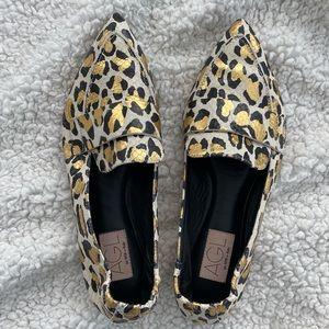 AGL leopard leather moccasin serval